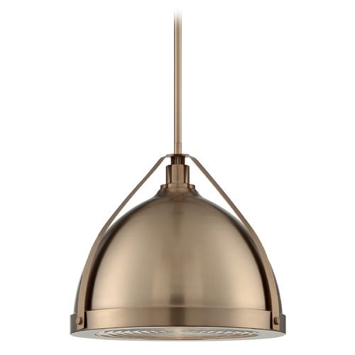Satco Lighting Satco Lighting Barbett Burnished Brass Pendant Light with Bowl / Dome Shade 60/7203