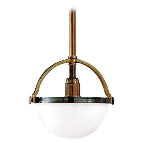 Hudson Valley Lighting Pendant Light with White Glass in Historic Bronze Finish 3312-HB