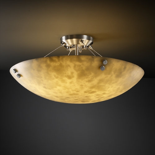 Justice Design Group Justice Design Group Clouds Collection Semi-Flushmount Light CLD-9657-35-NCKL-F1