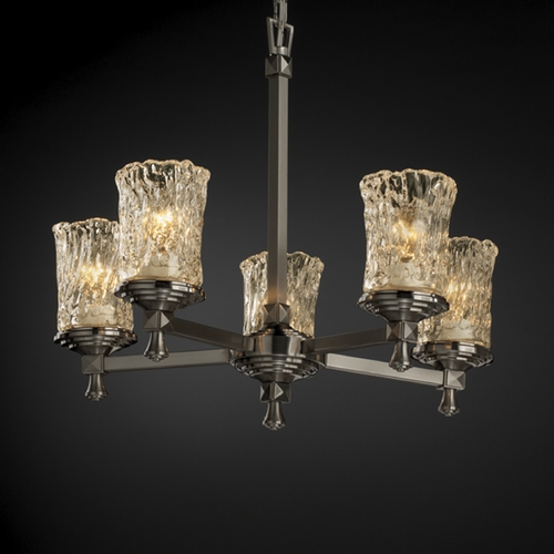 Justice Design Group Justice Design Group Veneto Luce Collection Chandelier GLA-8530-16-CLRT-NCKL