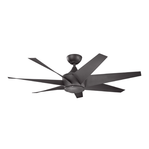 Kichler Lighting Kichler Lighting Lehr Ii Distressed Black Ceiling Fan Without Light 310112DBK