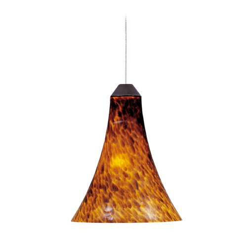 ET2 Lighting Minx Bronze Mini-Pendant Light with Bell Shade E94533-104BZ