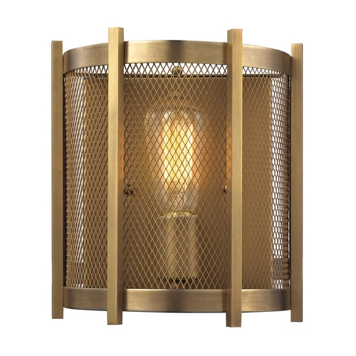 Elk Lighting Sconce Wall Light in Aged Brass Finish 31480/1