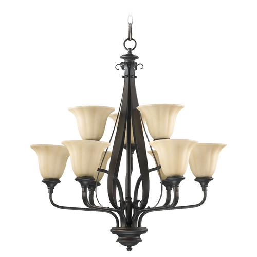 Quorum Lighting Quorum Lighting Randolph Oiled Bronze Chandelier 6194-9-86