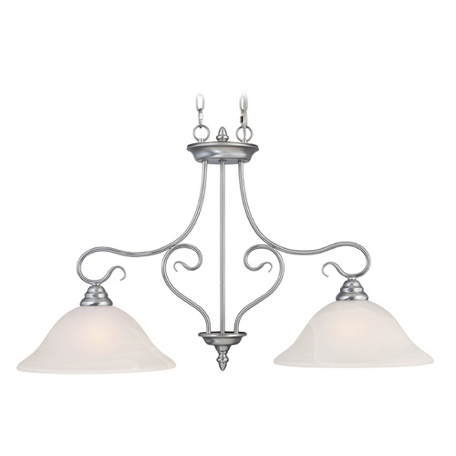 Livex Lighting Livex Lighting Coronado Brushed Nickel Island Light with Bell Shade 6132-91