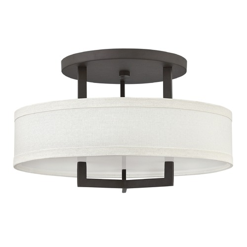 Hinkley Lighting Hinkley Lighting Hampton Buckeye Bronze LED Semi-Flushmount Light 3201KZ-LED