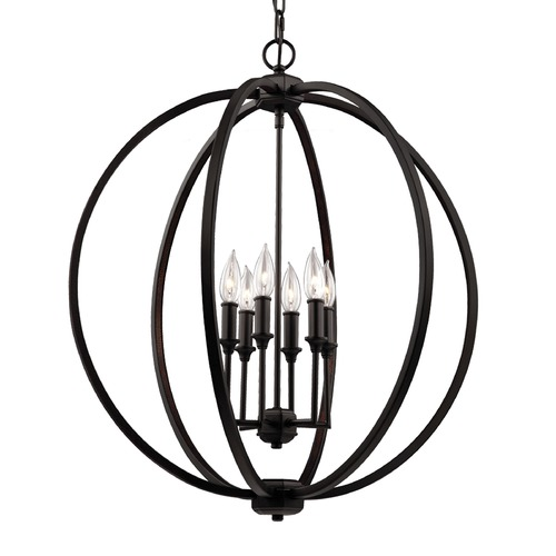 Feiss Lighting Feiss Lighting Corinne Oil Rubbed Bronze Pendant Light F3061/6ORB