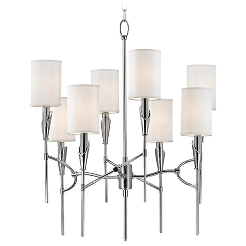 Hudson Valley Lighting Tate 8 Light 2-Tier Chandelier - Polished Nickel 1304-PN
