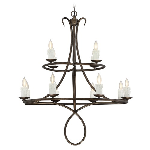 Savoy House Savoy House Lighting Lynch Guilded Bronze Chandelier 1-171-12-131