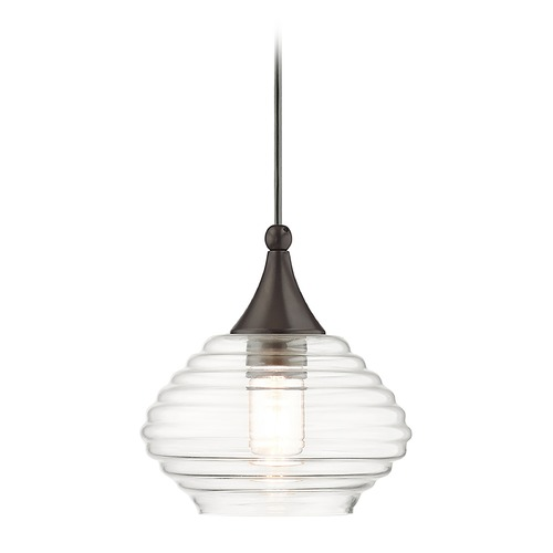 Livex Lighting Livex Lighting Art Glass Mini Pendant English Bronze Mini-Pendant Light with Bowl / Dome Shade 40610-92