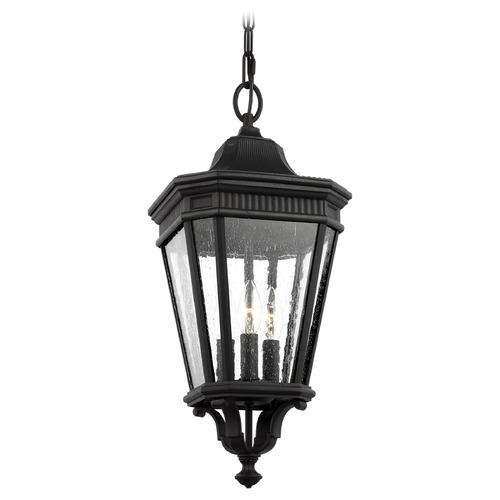 Feiss Lighting Feiss Lighting Cotswold Lane Black Outdoor Hanging Light OL5431BK