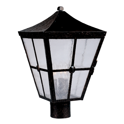 Maxim Lighting Post Light with Clear Glass in Country Forge Finish 30230CDCF