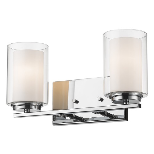 Z-Lite Z-Lite Willow Chrome Bathroom Light 426-2V-CH