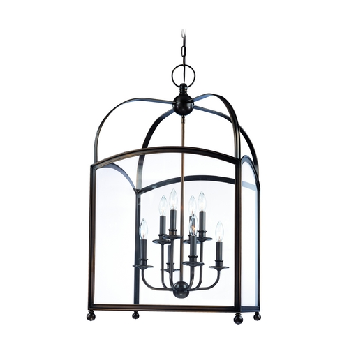 Hudson Valley Lighting Pendant Light with Clear Glass in Distressed Bronze Finish 8420-DB