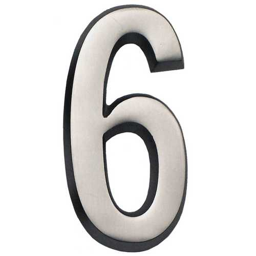 Gaines Hardware #6 Satin Nickel 4-Inch House Number GM CN-6