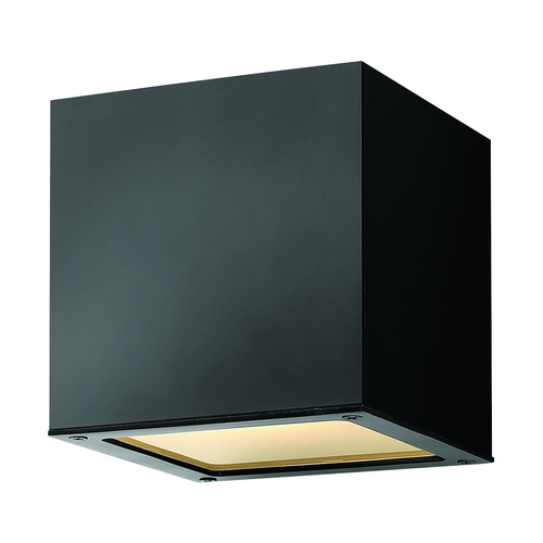 Hinkley Lighting Modern LED Outdoor Wall Light with Etched in Satin Black Finish 1767SK-LED