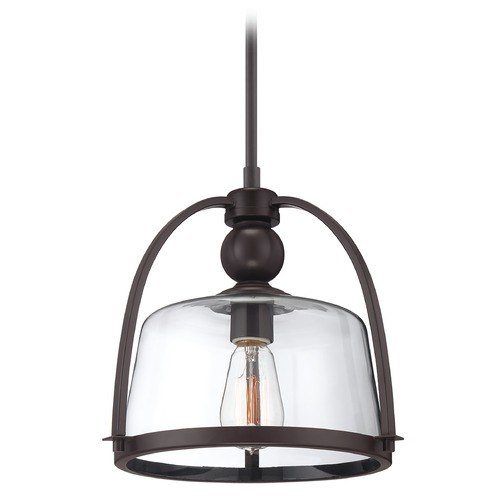 Quoizel Lighting Pendant Light with Clear Glass QPP1401WT