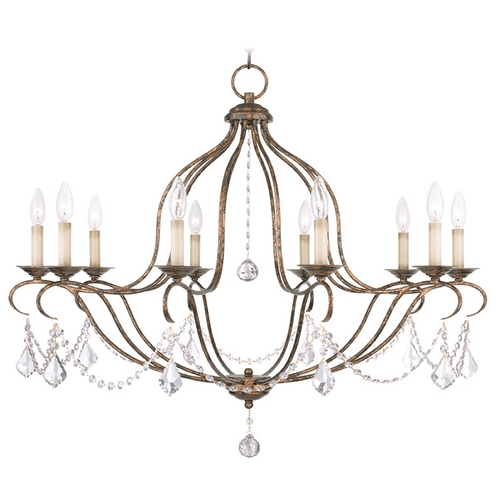 Livex Lighting Livex Lighting Chesterfield Venetian Golden Bronze Crystal Chandelier 6430-71