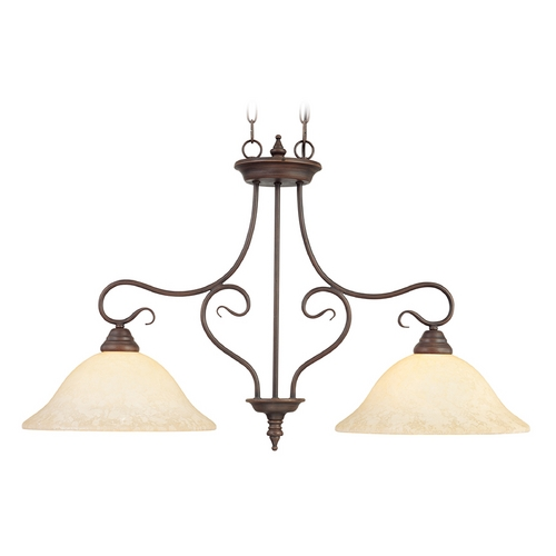 Livex Lighting Livex Lighting Coronado Imperial Bronze Island Light with Bowl / Dome Shade 6132-58