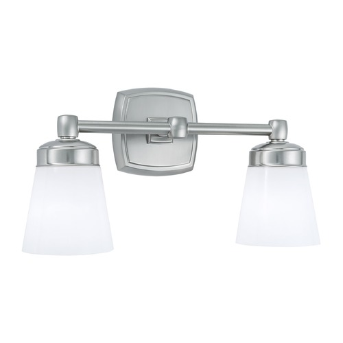 Norwell Lighting Norwell Lighting Soft Square Brush Nickel Bathroom Light 8932-BN-SO