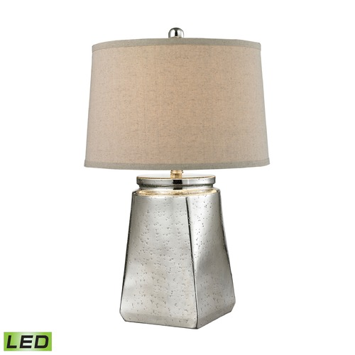 Dimond Lighting Dimond Lighting Silver Mercury LED Table Lamp with Empire Shade D2616-LED