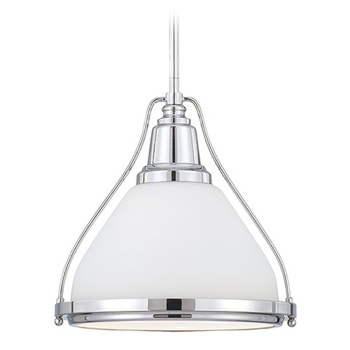 Savoy House Savoy House Polished Nickel Pendant Light with Bowl / Dome Shade 7-5375-1-109