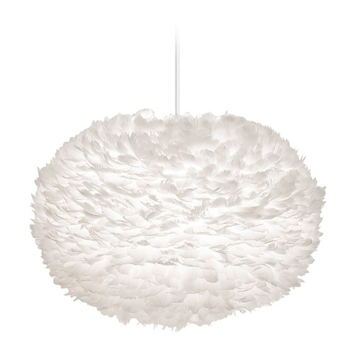 UMAGE UMAGE White Pendant Light with White Feather Shade 3004_4009