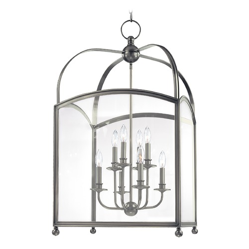 Hudson Valley Lighting Pendant Light with Clear Glass in Historic Nickel Finish 8420-HN