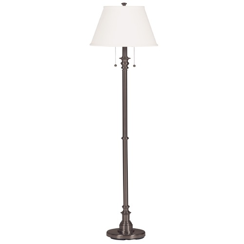 Kenroy Home Lighting Floor Lamp with Beige / Cream Shade in Bronze Finish 30438BRZ