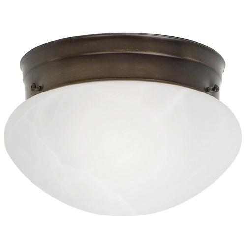 Design Classics Lighting 6-Inch Flushmount Ceiling Light 2961ES-BZ/ALB