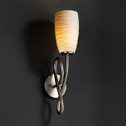 Justice Design Group Justice Design Group Limoges Collection Sconce POR-8911-28-WAVE-NCKL