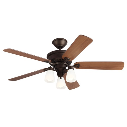 Monte Carlo Fans Monte Carlo Fans English Bronze Ceiling Fan with Light 5BO52EBD