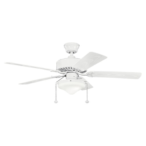 Kichler Lighting Kichler Lighting Renew Select Patio Ceiling Fan with Light 339516WH