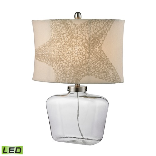 Dimond Lighting Dimond Lighting Clear LED Table Lamp with Oval Shade D2617-LED