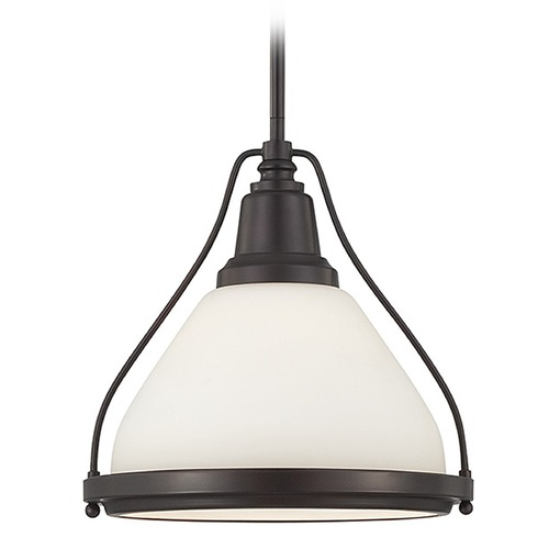 Savoy House Savoy House English Bronze Pendant Light with Bowl / Dome Shade 7-5375-1-13