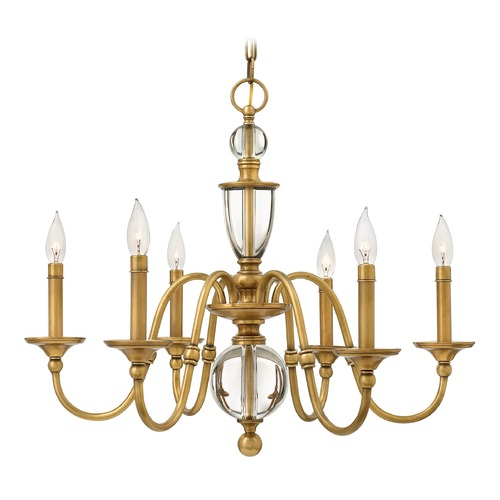 Hinkley Lighting Hinkley Lighting Eleanor Heritage Brass Chandelier 4956HB
