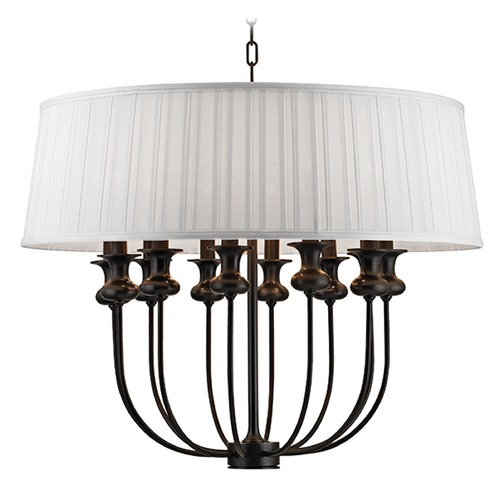 Hudson Valley Lighting Pembroke 12 Light Pendant Light Drum Shade - Old Bronze 5412-OB