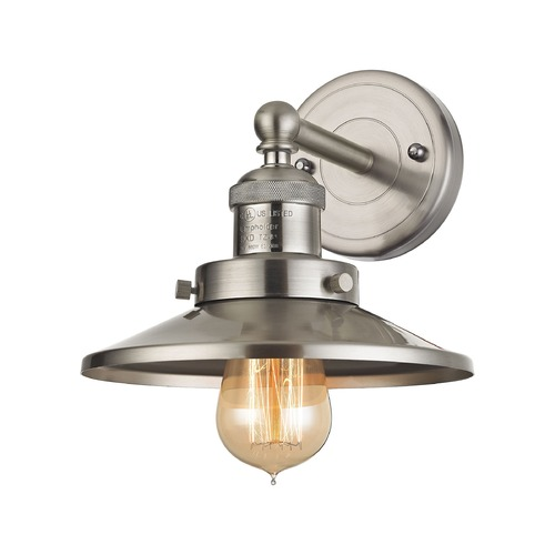 Elk Lighting Elk Lighting English Pub Satin Nickel Sconce 67170/1