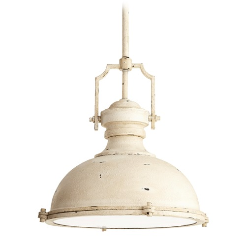 Quorum Lighting Quorum Lighting Persian White Pendant Light with Bowl / Dome Shade 814-20-70