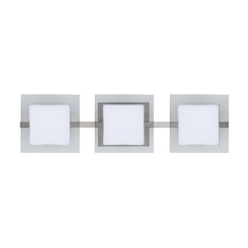 Besa Lighting Besa Lighting Alex Satin Nickel LED Bathroom Light 3WS-773539-LED-SN