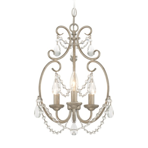 Designers Fountain Lighting Designers Fountain Dahlia Aged Platinum Mini-Chandelier 6205-AP