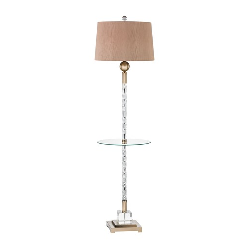 Dimond Lighting Dimond Brooke Champagne Gold Floor Lamp with Drum Shade D3049F