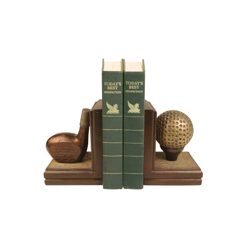 Sterling Lighting Golf Club and Golf Ball Decorative Bookends 87-2023