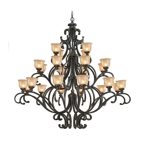 Crystorama Lighting Chandelier with Amber Glass in Bronze Umber Finish 7418-BU