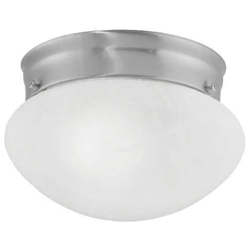 Design Classics Lighting 6-Inch Flushmount Ceiling Light 2961ES-SN/ALB