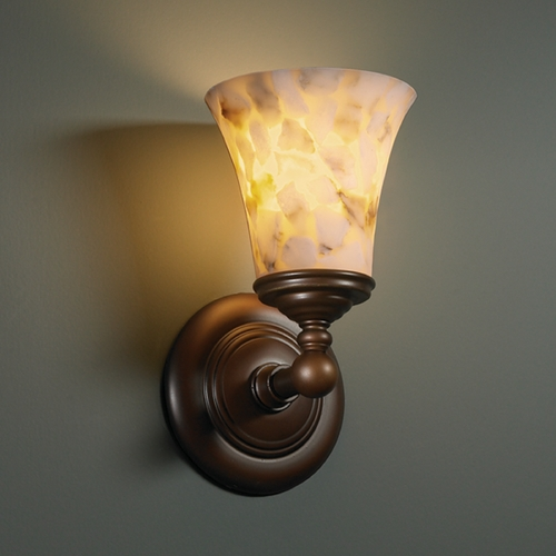 Justice Design Group Justice Design Group Alabaster Rocks! Collection Sconce ALR-8521-20-DBRZ