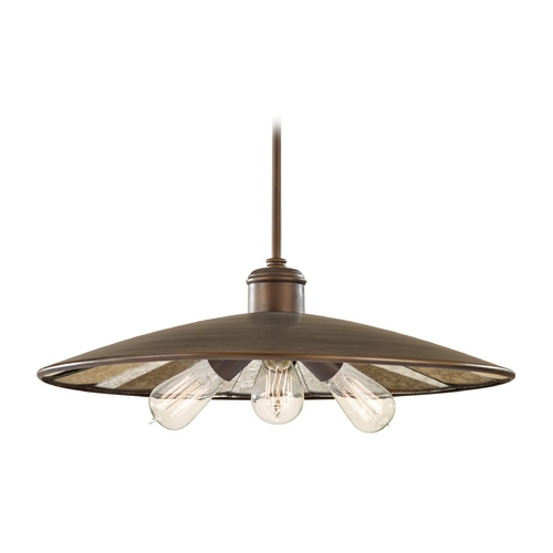 Feiss Lighting Pendant Light with Mirrored in Astral Bronze Finish P1281ASTB