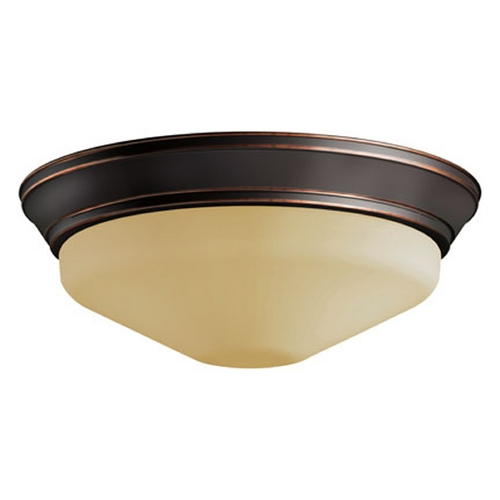 Progress Lighting LED Flushmount Light with Beige / Cream Glass in Antique Bronze Finish P2302-20ETUM30K
