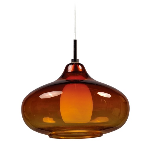 ET2 Lighting Minx Bronze Mini-Pendant Light with Oblong Shade E94548-141BZ