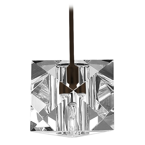 WAC Lighting Wac Lighting Crystal Collection Dark Bronze Mini-Pendant with Square Shade MP-940-CL/DB